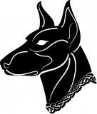 Изображение за Black dog head