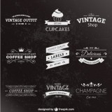 Изображение за Retro style labels pack
